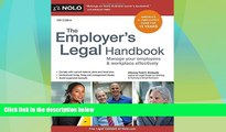 Big Deals  Employer s Legal Handbook, The: Manage Your Employees   Workplace Effectively  Full
