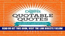 [FREE] EBOOK Quotable Quotes: Wit and Wisdom from the Greatest Minds of Our Time ONLINE COLLECTION