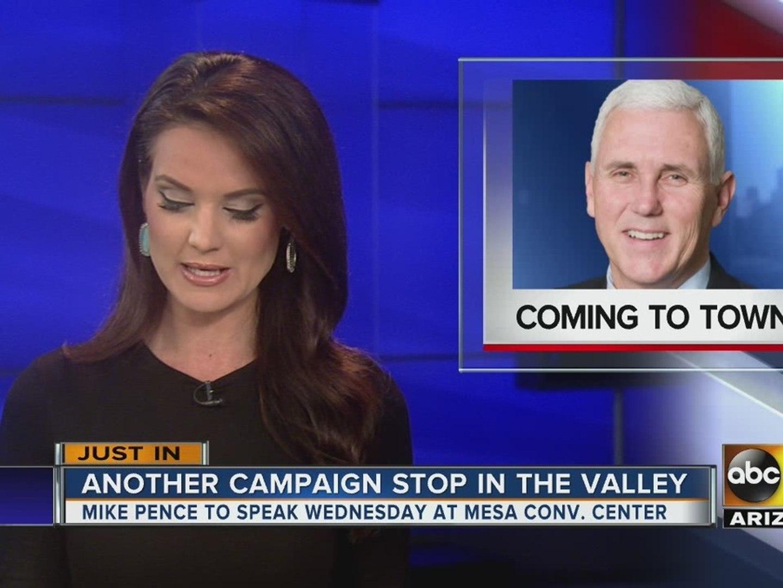 Mike Pence to speak in Valley this week