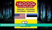 FAVORITE BOOK  16000+ English - Estonian Estonian - English Vocabulary (ChitChat WorldWide)  GET