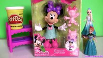 Play Doh Minnie Mouse SLEEPOVER BOW-Tique ❤️ MagiClip Disney Frozen Elsa Anna Magic Clip