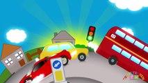 BIG RED BUS | Nursery Rhymes TV. Toddler Kindergarten Preschool Baby Songs.