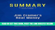 [Free Read] Summary: Jim Cramer s Real Money: Review and Analysis of Cramer s Book Full Online