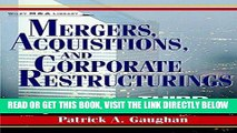 [Free Read] Mergers, Acquisitions, and Corporate Restructurings (Wiley Mergers and Acquisitions