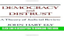 [Free Read] Democracy and Distrust: A Theory of Judicial Review Full Online