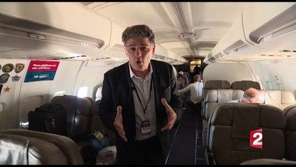 A bord de l'avion de campagne de Donald Trump
