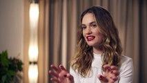 Lily James talks new star-studded Burberry ad