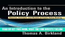 [Free Read] An Introduction to the Policy Process: Theories, Concepts and Models of Public Policy