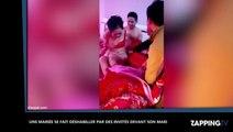 Une mariée se fait déshabiller par des invités devant son mari, les images chocs (Vidéo)