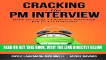 [READ] EBOOK Cracking the PM Interview: How to Land a Product Manager Job in Technology ONLINE