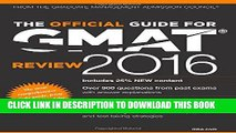 [FREE] EBOOK The Official Guide for GMAT Review 2016 with Online Question Bank and Exclusive Video