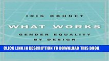 Ebook What Works: Gender Equality by Design Free Download