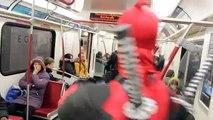 Deadpool Rides the Subway