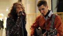 Un Artista Di Strada Canta Gli Aerosmith, Ma Non Sa Che Steven Tyler è Dietro Di Lui