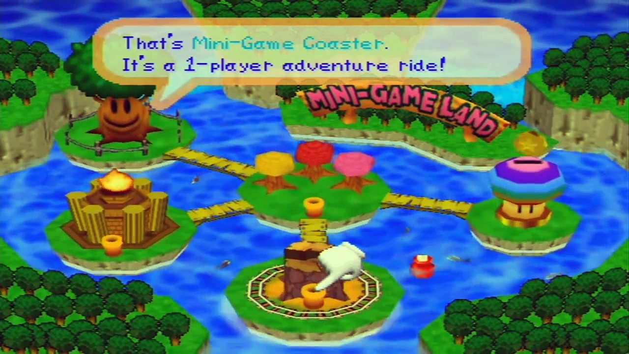 Mario Party 2 – Gameplay Walkthrough – Part 14 – Mini-Game Coaster: Easy Course – World 1