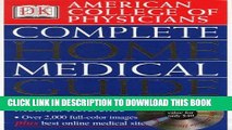 Best Seller American College of Physicians Complete Home Medical Guide (with Interactive Human