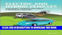 [Free Read] Electric and Hybrid Vehicles: Technologies, Modeling and Control - A Mechatronic