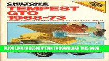 [PDF] Chilton s Repair and Tune-Up Guide Tempest Gto 1968-73 Popular Collection