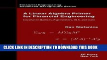 PDF] A Linear Algebra Primer for Financial Engineering