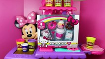 Play Doh Hello Kitty Donuts キャラクター練り切り ハローキティ Minnie Mouse Kitchen Cupcakes DisneyCarToys
