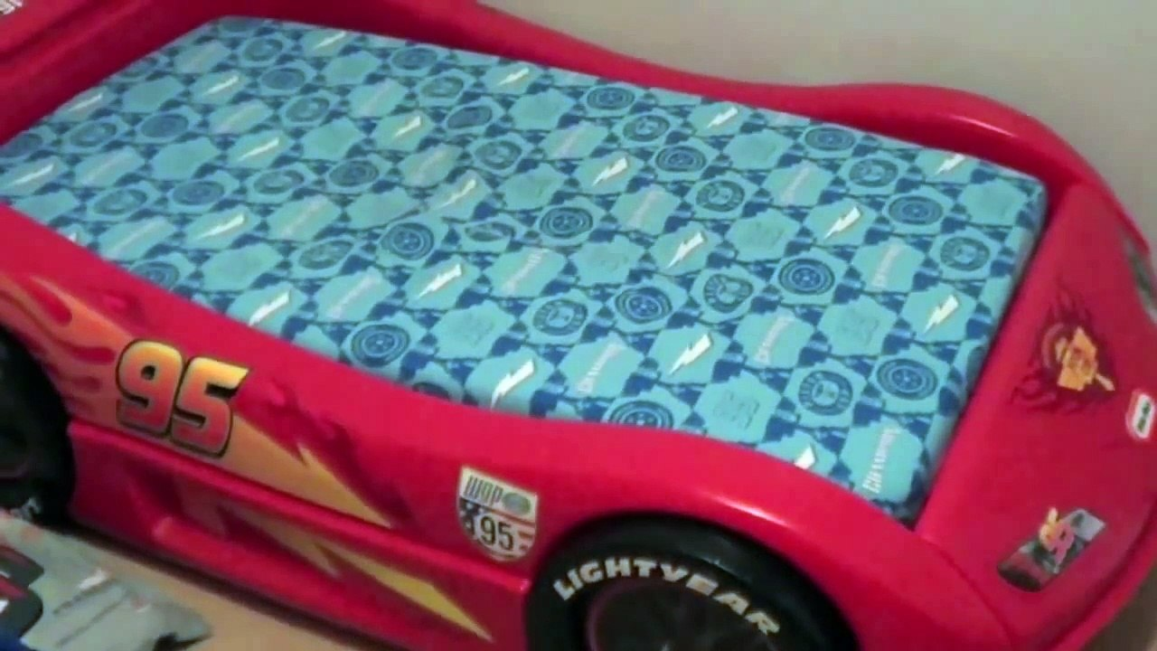 Toddler Cars Bed Assembly Instructions Disney Lightning Mcqueen Little Tikes Race Car Bed Video Dailymotion