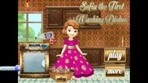 Beautifull Disney Princess Sofia The First Washing Dishes - Games For Girls