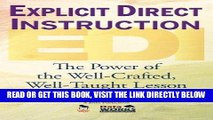 [DOWNLOAD] PDF Explicit Direct Instruction (EDI): The Power of the Well-Crafted, Well-Taught