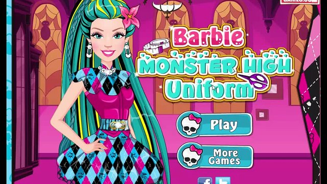 Monster High Games - Barbie Monster High Uniform - Best Monster High Games For Girls And Kids