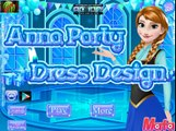 Disney Frozen Games - Anna Party Dress Design – Best Disney Princess Games For Girls And Kids