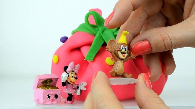 Peppa pig Play doh Shopkins Kinder Surprise eggs Minnie mouse English Playdough Egg