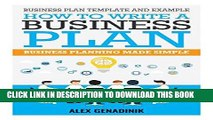 [READ] EBOOK Business plan template and example: how to write a business plan: Business planning