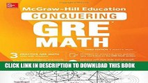 [New] Ebook McGraw-Hill Education Conquering GRE Math, Third Edition Free Read