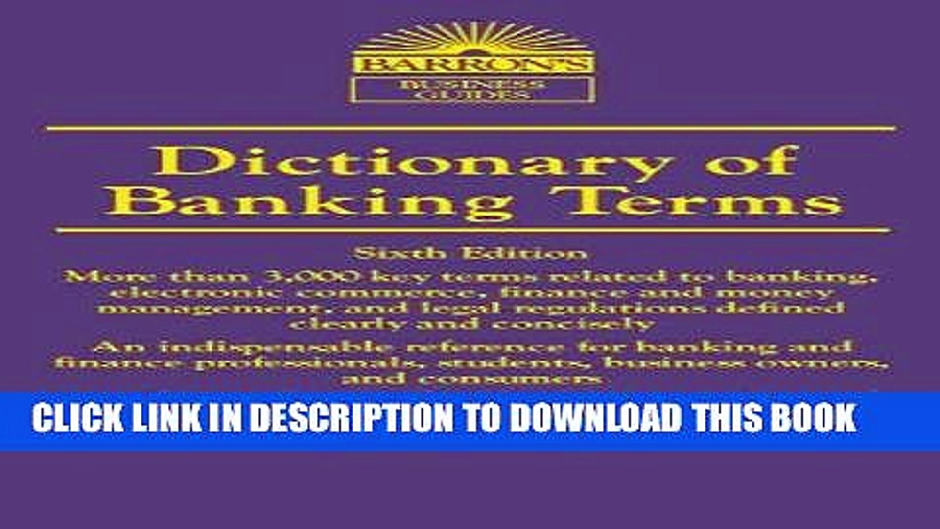 Ebook Dictionary of Banking Terms (Barron s Dictionary of Banking Terms) Free Read