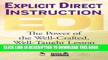Best Seller Explicit Direct Instruction (EDI): The Power of the Well-Crafted, Well-Taught Lesson