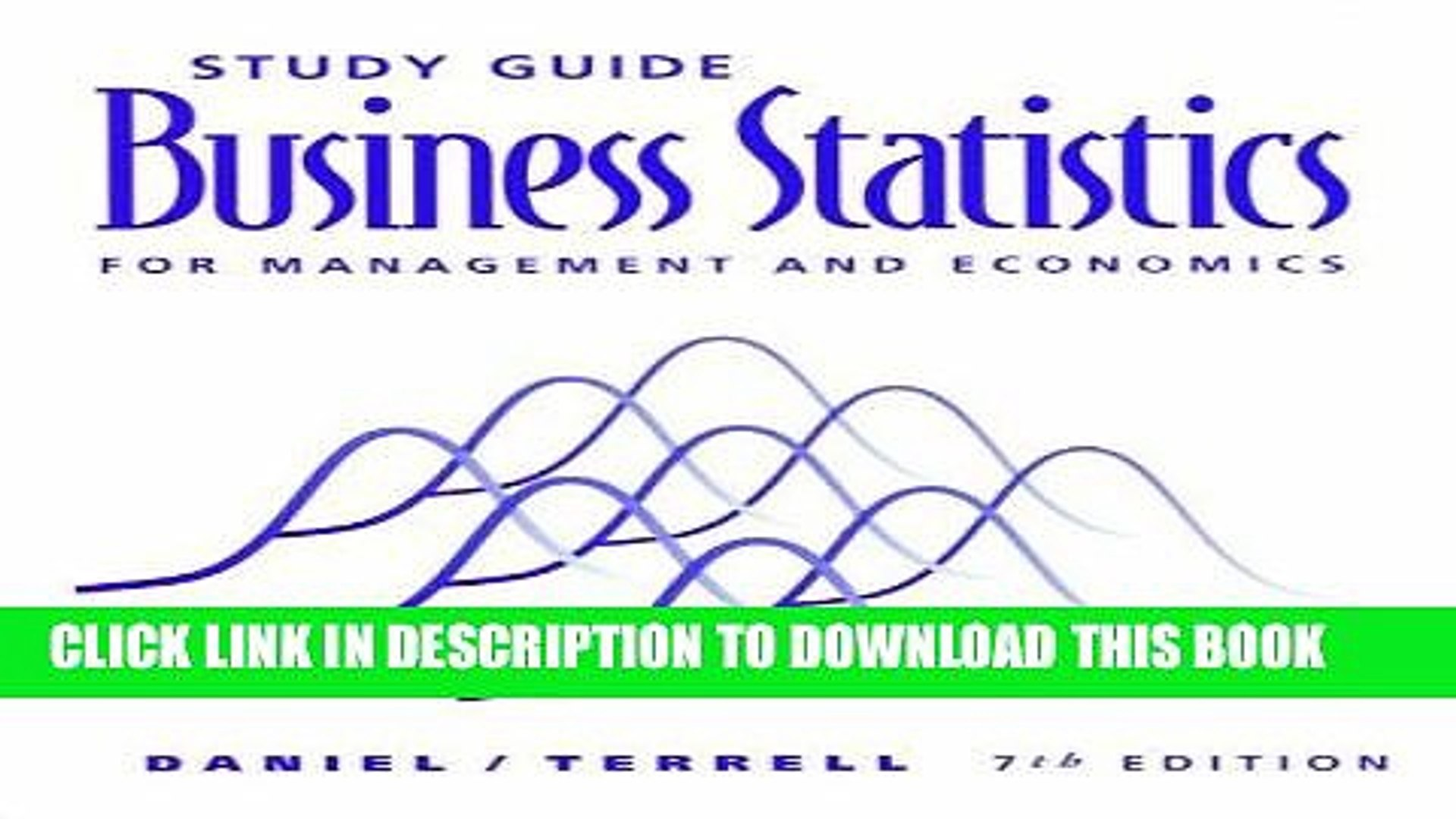 [PDF] Study Guide for Daniel/Terrell s Business Statistics for Management  and Economics, 7th Full