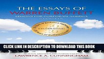 [FREE] EBOOK The Essays of Warren Buffett: Lessons for Corporate America, Fourth Edition BEST