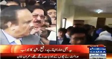 Khurram Nawaz Gandapur and Naeem ul haq fighting and abusing each other