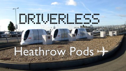 AWESOME ULTra #Heathrow Airport #DRIVERLESS Pods at Business Parking B