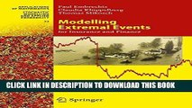 Best Seller Modelling Extremal Events: for Insurance and Finance (Stochastic Modelling and Applied