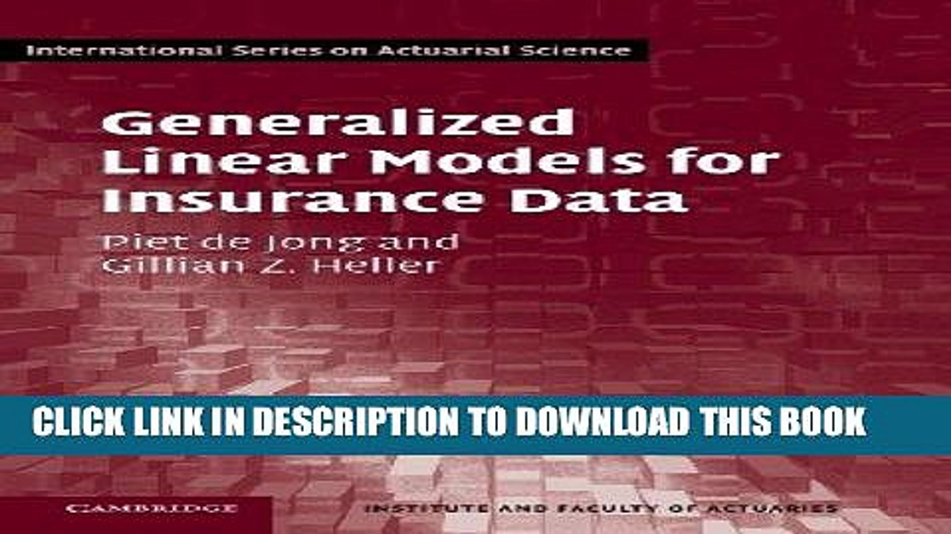 Best Seller Generalized Linear Models for Insurance Data (International  Series on Actuarial