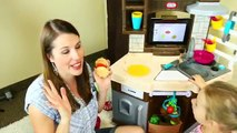 Little Tikes Cook N Learn SMART Kitchen Ipad App Slicing Food, Cooking Recipes by DisneyCarToys