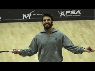 Ranveer Singh Plays Squash At The Indian Squash Circuit - B4U Entertainment