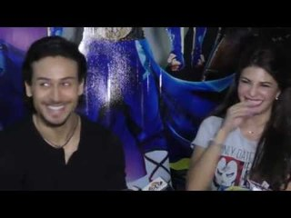 Jacqueline Fernandez and Tiger Shroff  promote A Flying Jatt