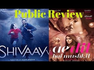 Shivaay VS Ae Dil Hai Mushkil | Public Review | B4U Entertainment