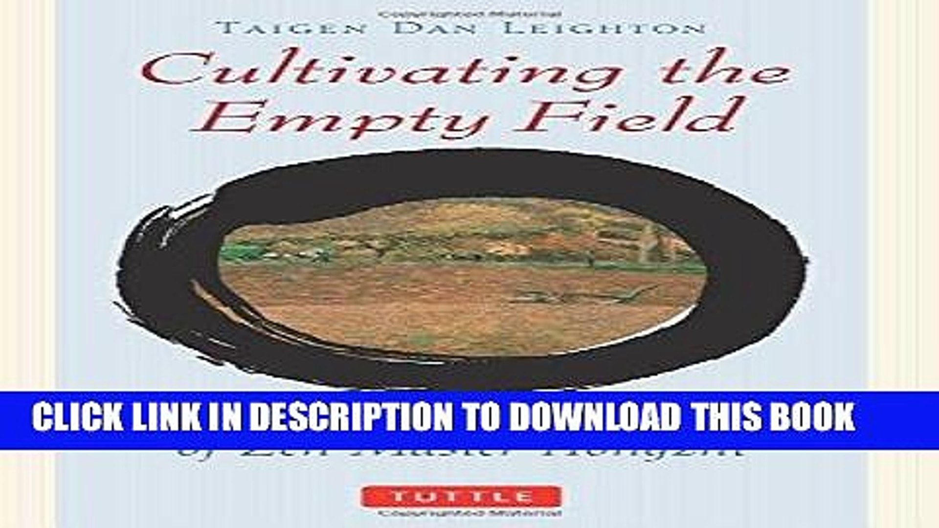 Cultivating the Empty Field - The Silent Illumination of Zen Master Hongzhi