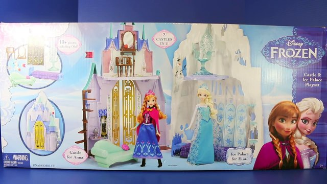 Frozen Barbie Size Castle & Ice Palace Playset Elsa, Kristoff, Anna, Olaf Toys Review DisneyCarToys