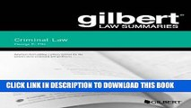 [FREE] EBOOK Gilbert Law Summary on Criminal Law (Gilbert Law Summaries) ONLINE COLLECTION