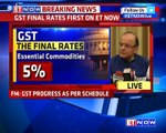 FM Arun Jaitley On Final GST Rates