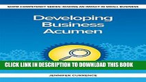 [New] Ebook Developing Business Acumen (Making an Impact in Small Business HR) Free Online