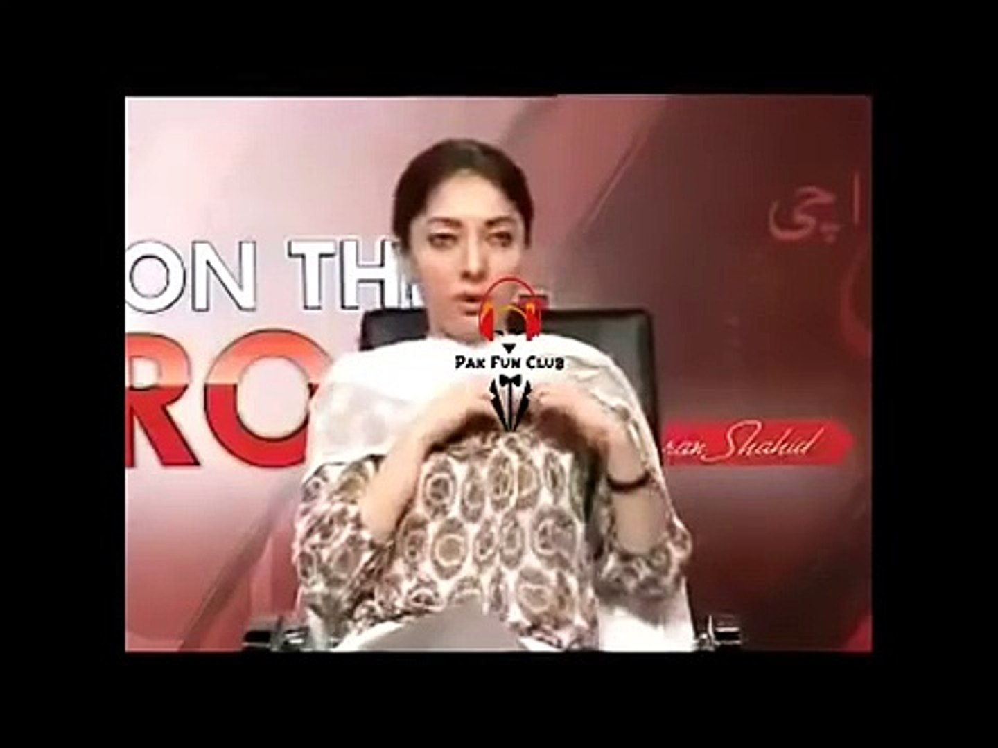 PPP Minister Sharmeela Farooqi Most Amberessing Interview Video Leaked :o